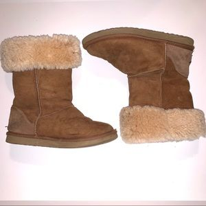 UGG Chestnut Tan Classic Tall Suede Boots SZ 6